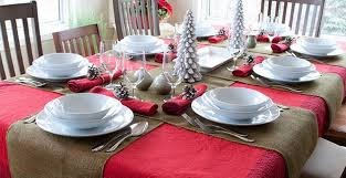 burlap christmas table runner colored burlap as holiday table runners