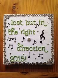 Musical Note Decorations Music Graduation Cap Designs Inspiration For The Music Generation