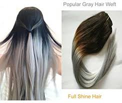 silver hair extensions shine 100 human remy hair weave 1b silver gray