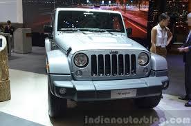 jeep front view jeep wrangler black edition ii 2015 geneva live