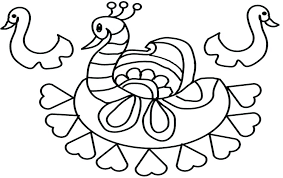 Rangoli Coloring Pages Designs Printable Coloring Pages Simple