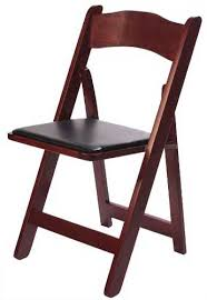 rental folding chairs mahogany wood folding chair oakland area party supply rentals