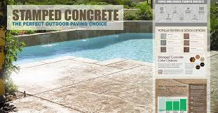 stamped concrete pool deck stamped concrete what it is and how
