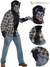 gorilla halloween mask men werewolf costume rabid wolf fancy dress horror movie
