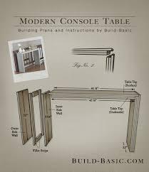 build a console table build a modern console table build basic