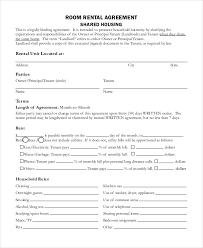 landlord lease agreement tempalte printable sample monthly rental