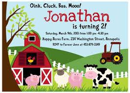 farm birthday invitation printable digital file