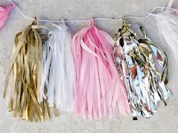 tissue paper streamers make your own tissue paper tassel garland hgtv
