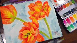watercolor tutorial chickadee prima watercolors coloring book waterbrushes watecolor panel