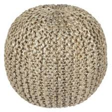 Mini Pebble Wool Jute Rug Poufs You U0027ll Love Wayfair