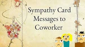 sympathy card message co worker jpg