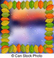 vector clip art of colored drops border design vector abstract