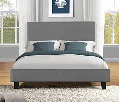 Fabric Platform Bed Container Furniture Direct Stanton Collection Contemporary