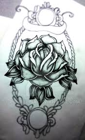 old black and grey rose tattoo by pompelina on deviantart