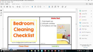 editable cleaning chore cards for kids happy brown house