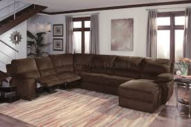 Power Sectional Sofa Sectional Sofas With Recliners Chocalate Micro Suede