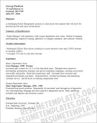 exle of objective in resume objective for resume in retail resume exles templates retail