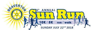sunrun logo 6th annual beaverton sun run
