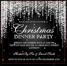 marvelous elegant christmas party invitation in different article