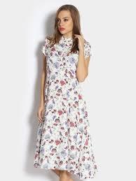 buy femella women femella women white floral print fit u0026 flare