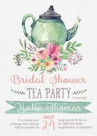 bridal tea party invitation tea party bridal shower invitations wedding shower invite