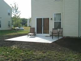 Backyard Stamped Concrete Ideas Hardscaping Options Concrete Pavers Or Stamped Concrete