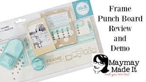 Punch Home Design Studio Mac Review by We R Memory Keepers Frame Punch Board Review And Demo Youtube
