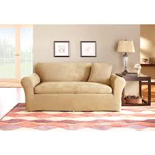 Sure Fit Cotton Duck T Cushion Sofa Slipcover by Sure Fit Matelasse Damask Sofa Cover Hayneedle
