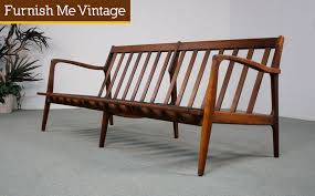 modern wood sofa restored danish style mid century modern sofa furnish me vintage