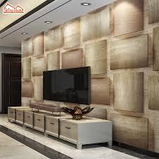 livingroom cafe shinehome 3d brick wood pattern check wallpapers mural rolls 3 d