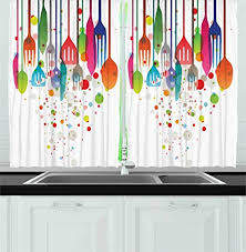 Modern Curtains For Kitchen by Colorful Kitchen Curtains Amazon Com