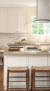 kitchen cabinet colors with beige countertops 29 ivory travertine backsplash tile ideas