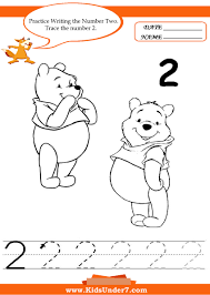 kids under 7 writing numbers worksheets