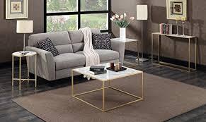 convenience concepts gold coast faux marble end table amazon com convenience concepts gold coast faux marble end table