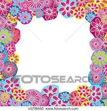 cornice per bambini galleria di illustrazioni carino floreale cornice per