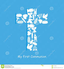 First Communion Invitations Cards First Communion Invitation Card Stock Vector Image 61019899