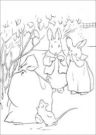 kids fun 29 coloring pages peter rabbit