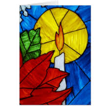 stained glass christmas greeting cards zazzle