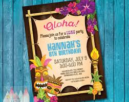 hawaiian invitation etsy