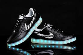 led lights shoes nike nike air force 1 low lights up shoe with leds black for sale nike
