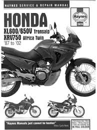 workshopmanual for honda xrv750 africa twin 1987 2002 4 stroke