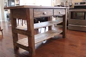 kitchen island butcher block utility table storage shelves organizer