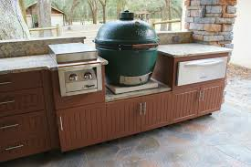 Outdoor Kitchen Cabinets And More Outdoor Kitchen With Green Egg House Decorations
