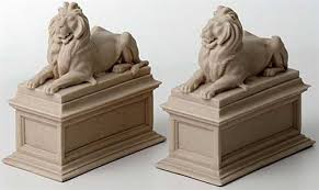 lion book ends new york library lions bookends edward clark potter 1911