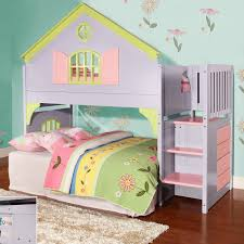 Bedroom Furniture Kids Donco Kids Donco Kids Twin Doll House Loft Bed With Staircase