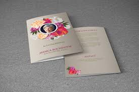 funeral brochure template memorial cards templates free free
