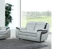 canap 2 places cuir noir canape cuir 2 places canapac 2 places relax en cuir blanc et noir