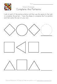 pattern math worksheets preschool kindergarten pattern worksheets easy preschool patterns worksheet