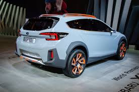 subaru xv blue subaru xv concept is a thinly disguised look at the future
