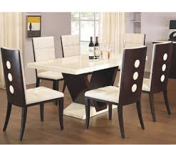 arta marble dining table and chairs leather and wood dining chairs